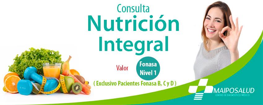 Especialidad Nutrición Integral Fonasa Nivel 1