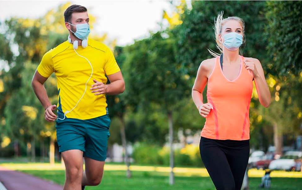Uso de mascarillas al hacer deporte